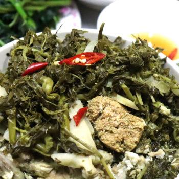 Đặc sản Rau Sắn muối chua Phú Thọ, ăn một lần mê cả đời
